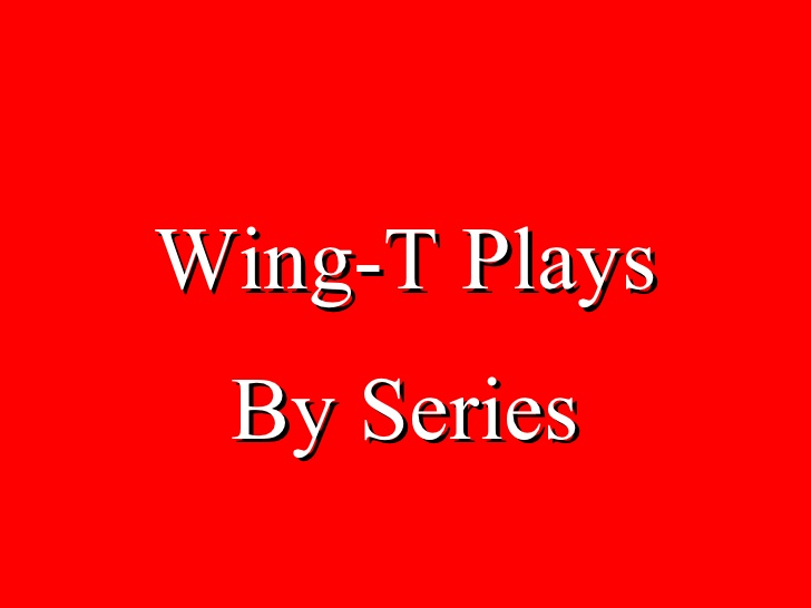 Playbook wing pdf offense t Pistol Wing